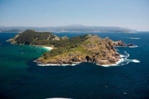 Cíes Inseln vor Galicien