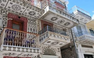 Pirgi houses Chios
